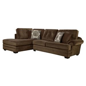 16C0 Small Sectional Sofa with Chaise (on Left Side) by Corinthian
