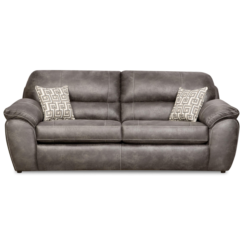 Corinthian 18A0 Sofa - Item Number: FG18B3 S Ulysses Charcoal