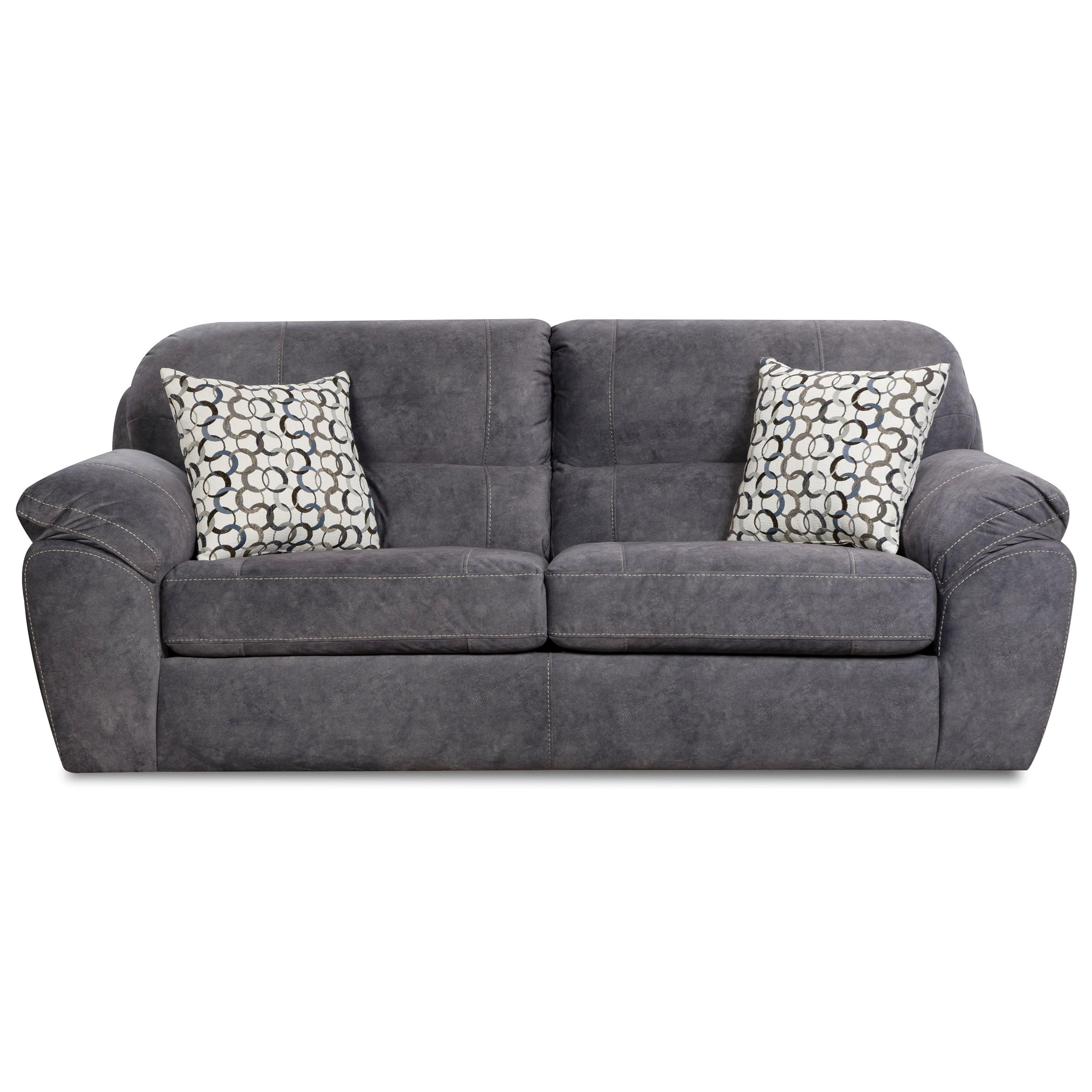 Corinthian 18A0 Sofa - Item Number: FG18C3-ATLAS-INDIGO