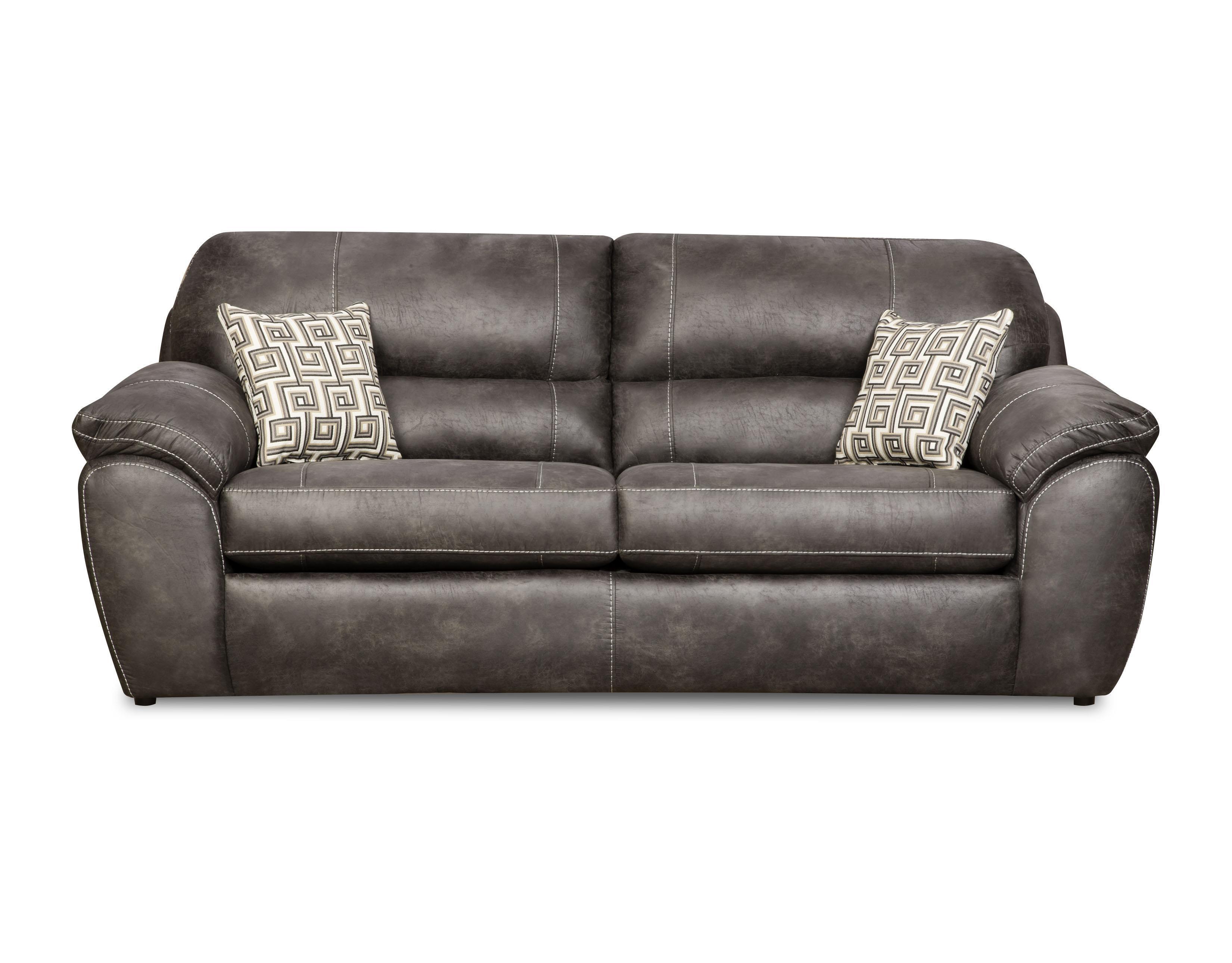 Corinthian Ulysses Charcoal Ulysses Charcoal Queen Sofa Sleeper - Item Number: 18B4