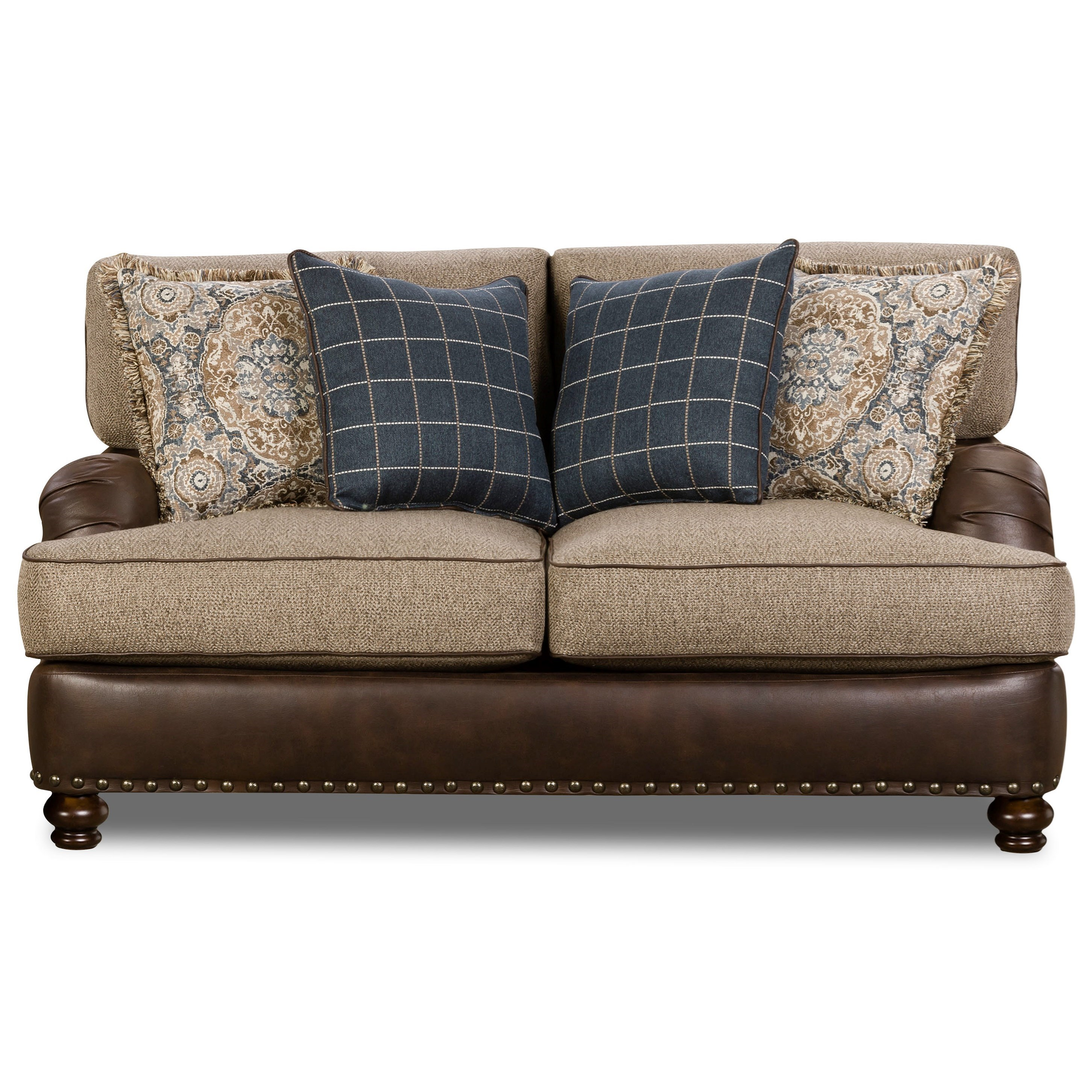 Corinthian 5300 Traditional Styled Sectional Sofa With: Corinthian 2000 Traditional Loveseat