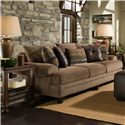 Corinthian 23A0 Large Three Cushion Herringbone Sofa
