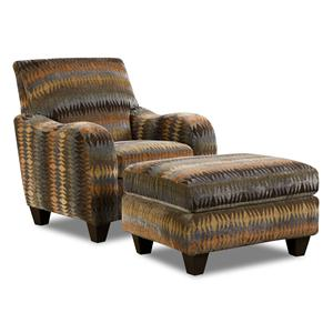 Corinthian 23A0 Specialty Chair and Ottoman