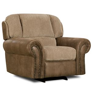 Corinthian 27A0 Contrasting Tan Lounge Chair with Pop Out Footrest
