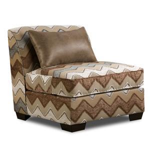 Corinthian 27A0 Zig Zag Upholstered Slipper Chair