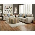 Corinthian 28A0 Sugarshack Pebble Sofa & Loveseat - Item Number: CORI-GRP-28AX-SL