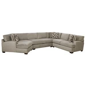 Josephine 4 Piece Sectional Sofa  sc 1 st  Great American Home Store : corinthian furniture sectional - Sectionals, Sofas & Couches