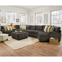 Corinthian 29C0 Extra Large Sectional for 6 - Item Number: 29C2LF+1CP+3NA+9RF