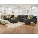 Corinthian 29C0 Extra Large Sectional for 6 - Chair and Ottomans Available Separately