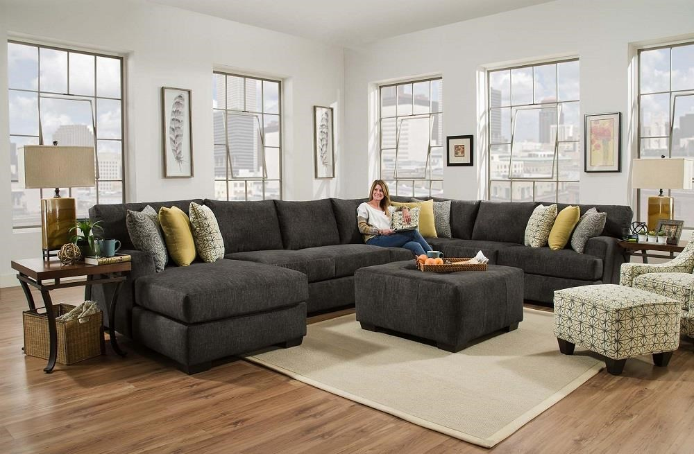 Corinthian Alton Alton 4 Piece sectional with LSF Chaise - Item Number CORI-GRP : corinthian furniture sectional - Sectionals, Sofas & Couches