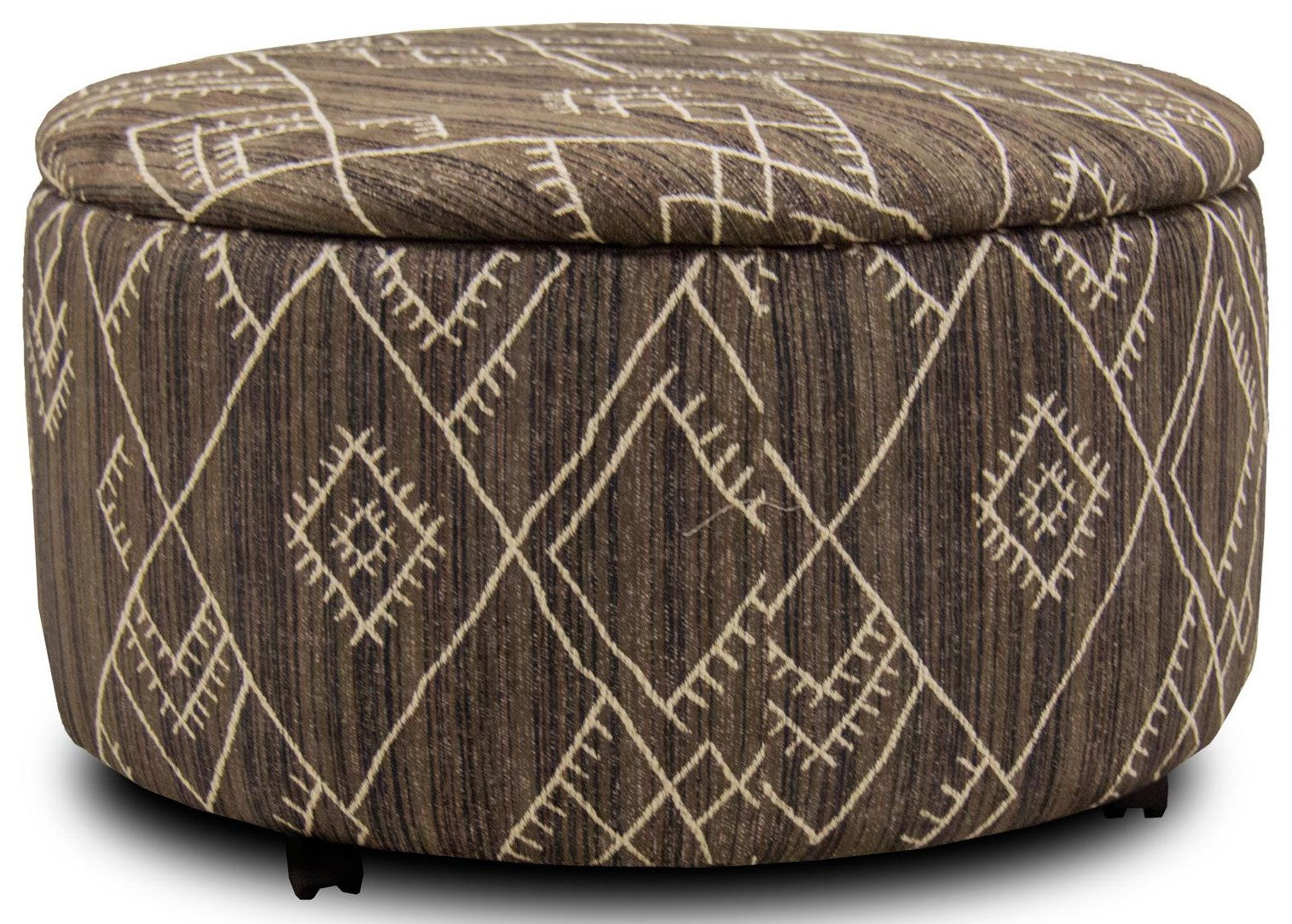 Corinthian Alton Judaculla Round Storage Ottoman with Casters - Item Number: AO2429D