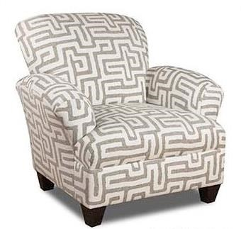 Accent Chair with Contrast Fabric