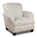 Corinthian Colonist Accent Chair with Contrast Fabric - Item Number: AC932B-Totem-Oatmeal