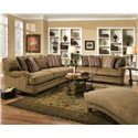 Corinthian 33A Elegant Styled Traditional Cottage Loveseat - Shown with Coordinating Collection Sofa. Chaise Shown Right Corner.