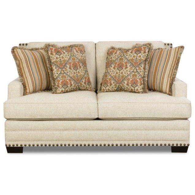 Corinthian 34A0 Loveseat - Item Number: 34A2-SUGARSHACK-LINEN