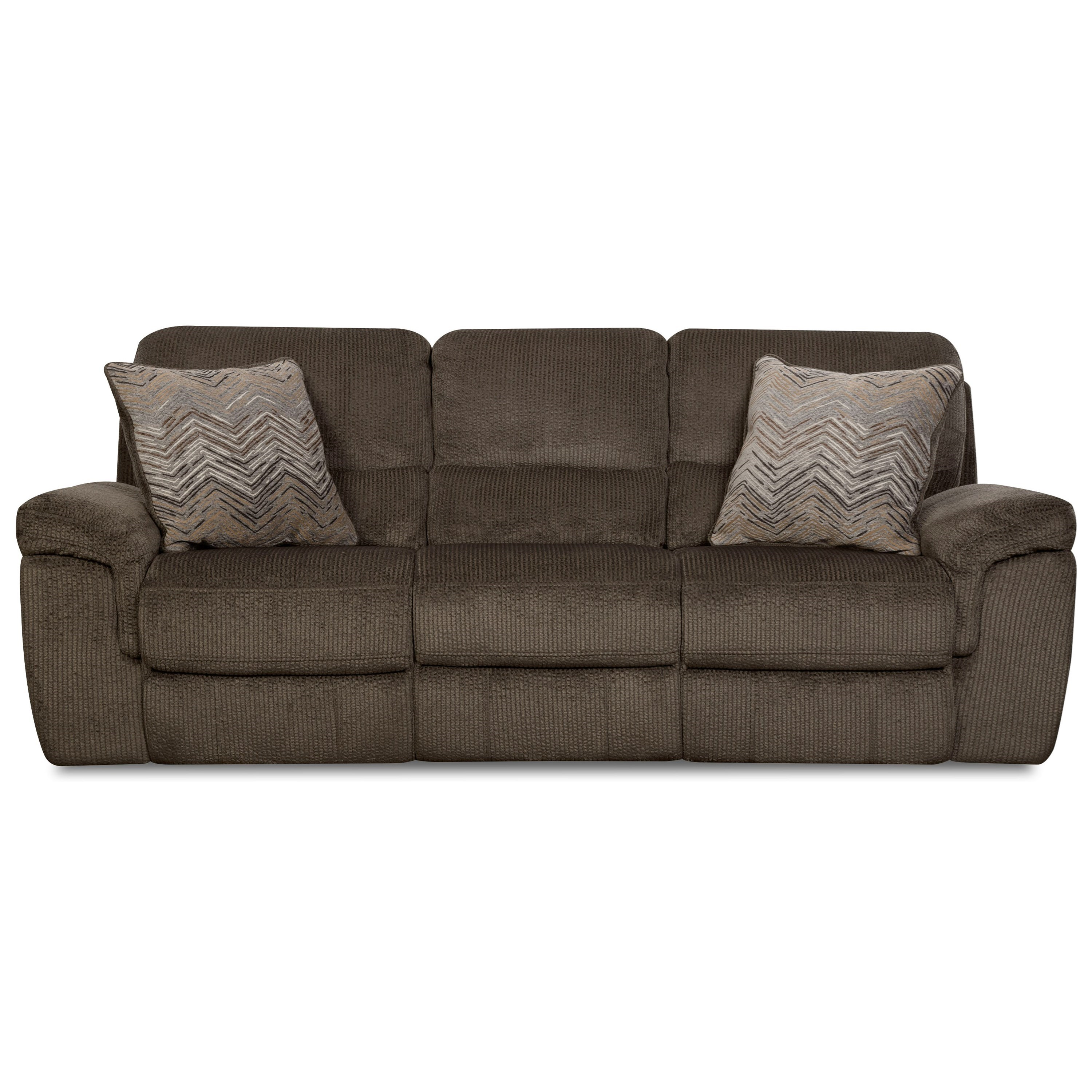 Corinthian 35002 Reclining Sofa - Item Number: 35001-30-Made-Out-Chocolate