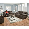 Corinthian 35002 Reclining Sofa - Actual Recline Handle May Differ From What is Shown