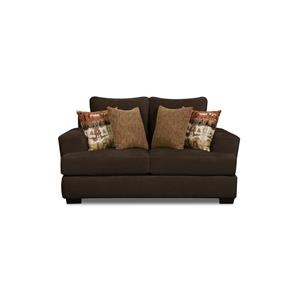 Corinthian 35B0 Conran Chocolate Loveseat