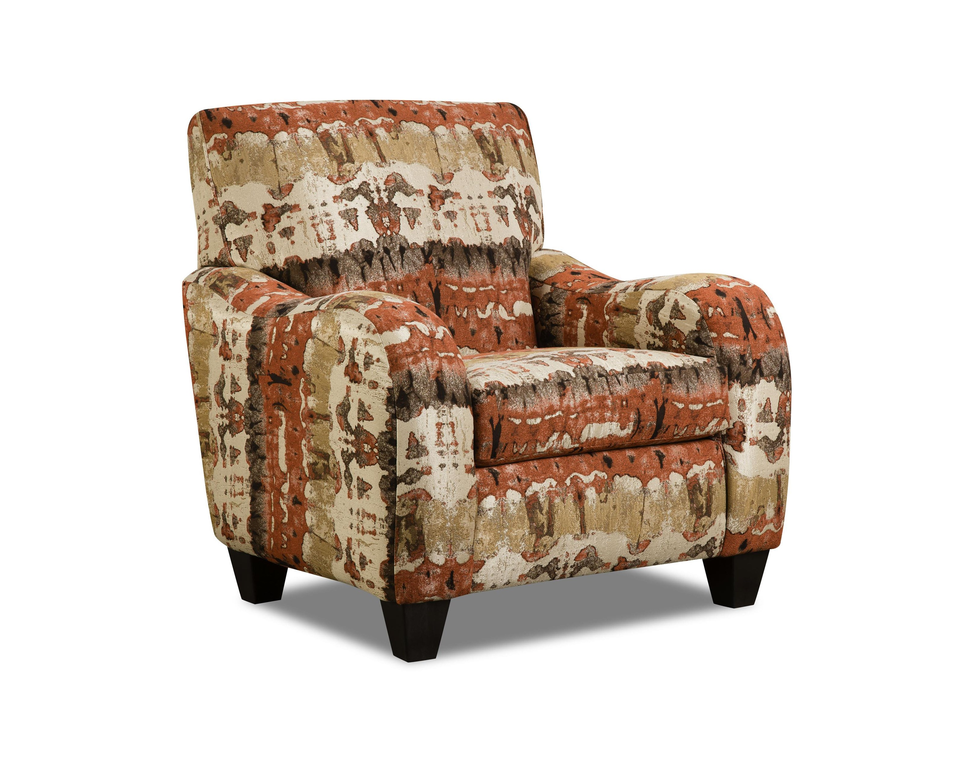 Corinthian 35A0 Reflections Lava Accent Chair - Item Number: AC1635A