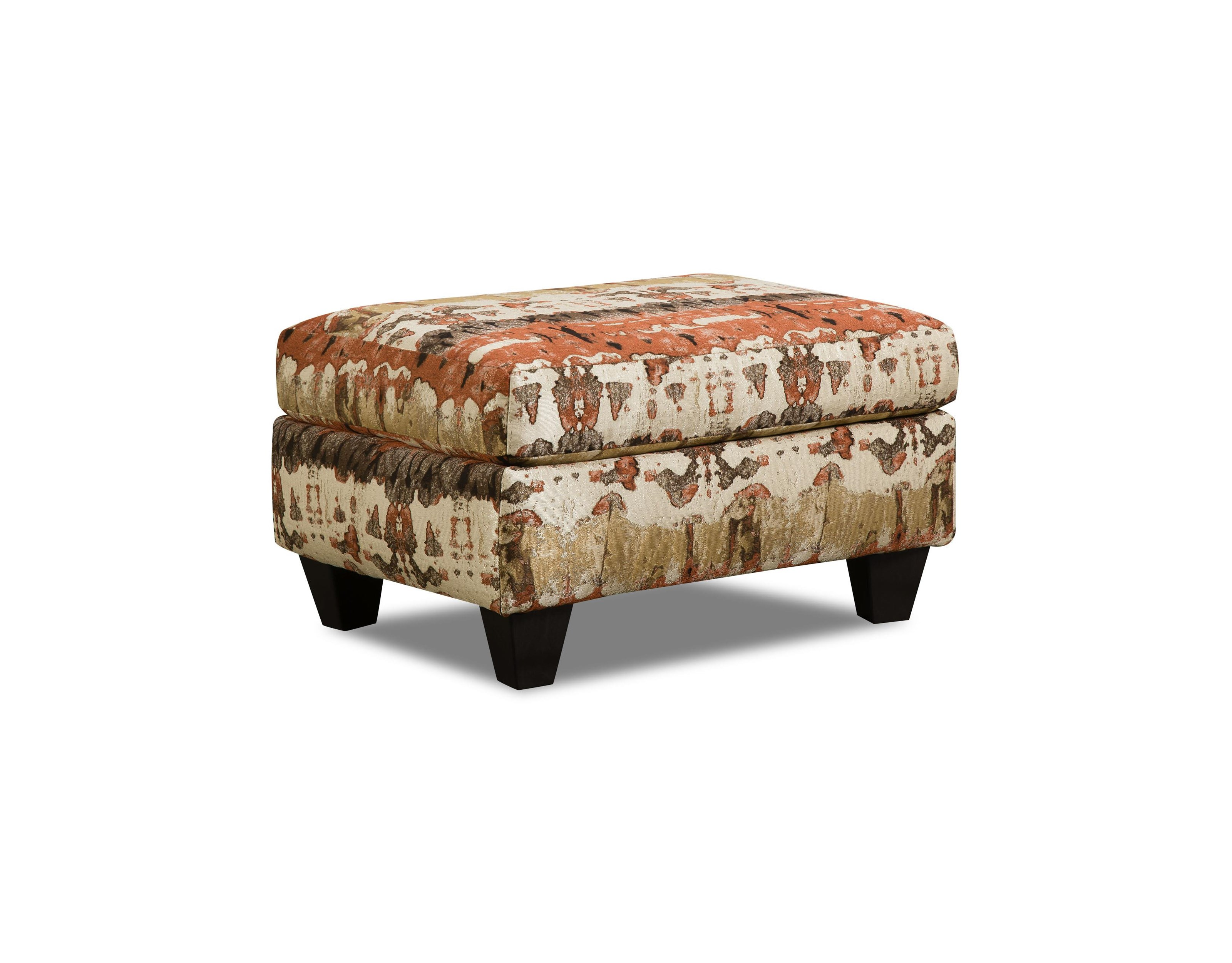 Corinthian Conran Reflection Lava Accent Ottoman - Item Number: AO1635A