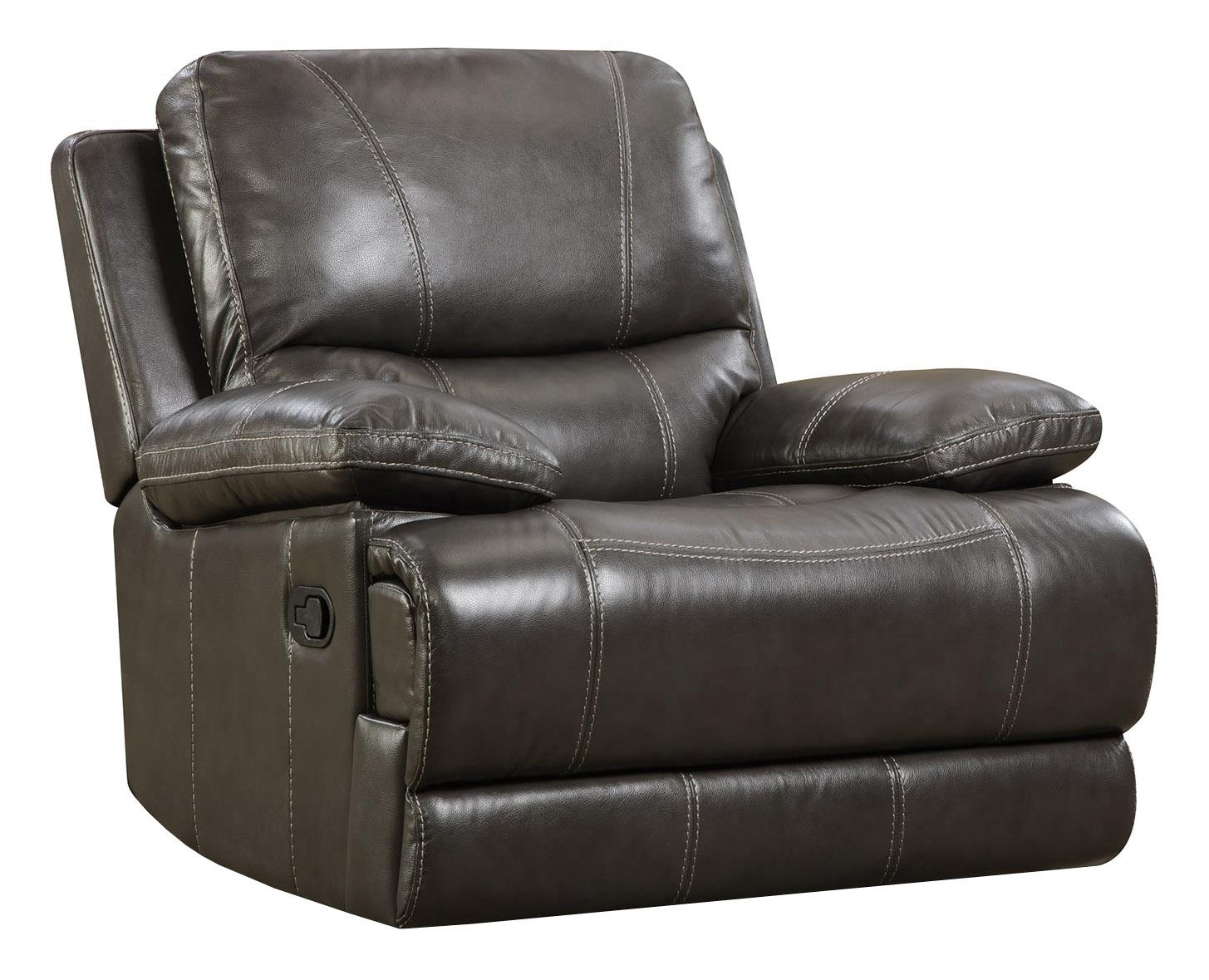 Corinthian Brooklyn Charcoal Rocker Recliner - Item Number: 42801-10-Made_Out_Grey
