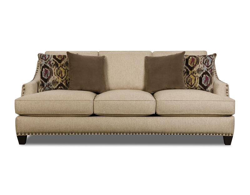 Corinthian 44A Jute Sofa - Item Number: 44A3