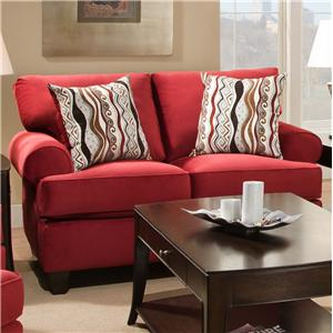 Corinthian 47B0  Jackpot Red Loveseat