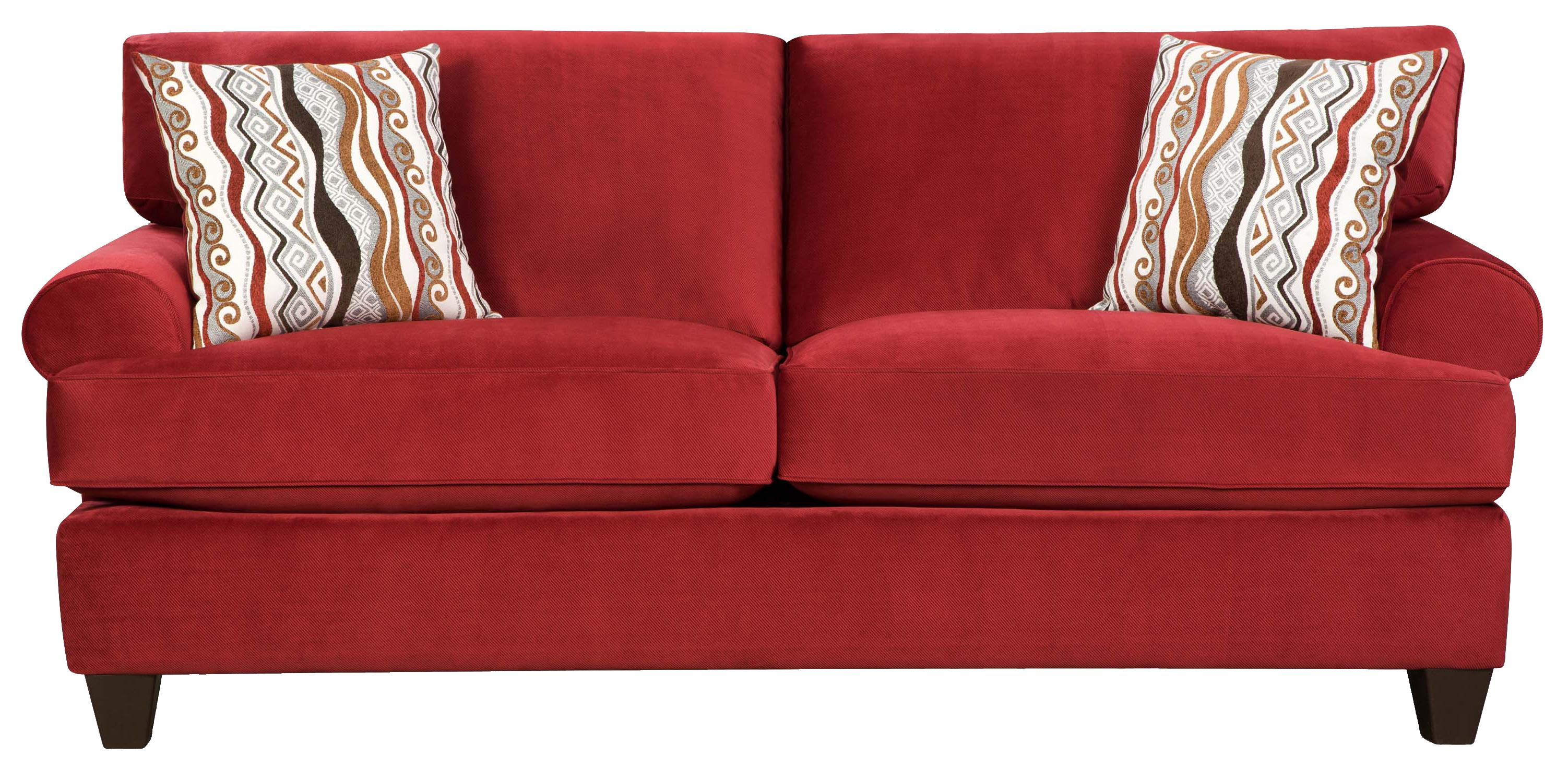 Corinthian 47B0 Casual and Contemporary Living Room Sofa VanDrie