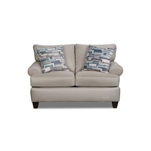 Corinthian Hogan Nickel Loveseat