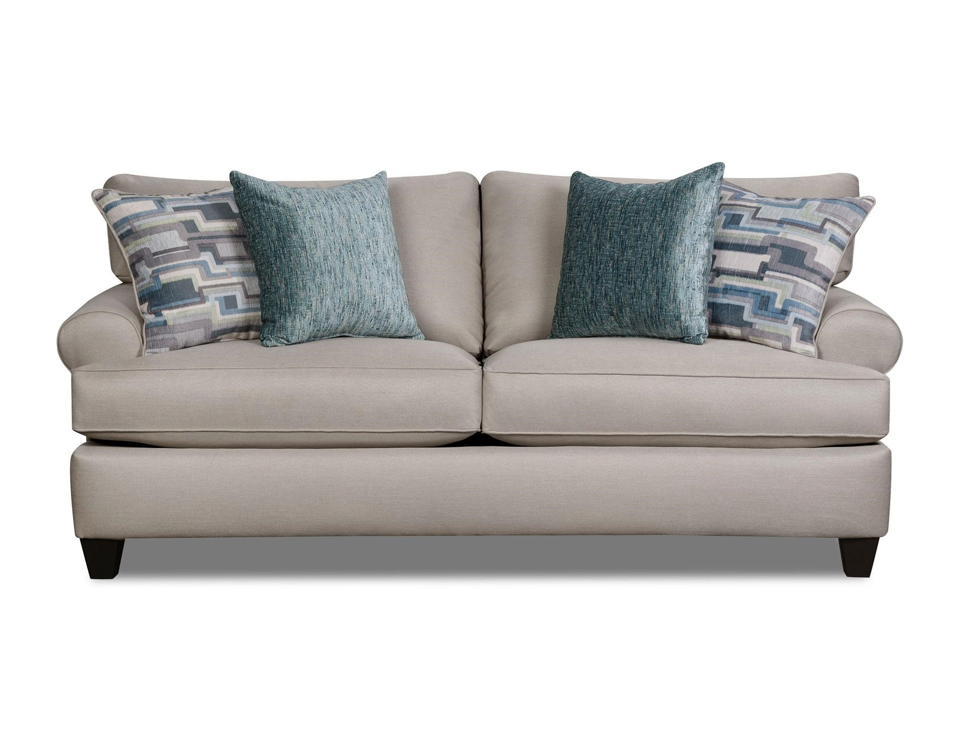 Corinthian Hogan Nickel Sofa - Item Number: 47G3