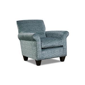 Corinthian Hogan Nickel Tiara Lapis Accent Chair