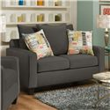 Corinthian 49A0 Love Seat - Item Number: 49A2-Marvel-Gunmetal