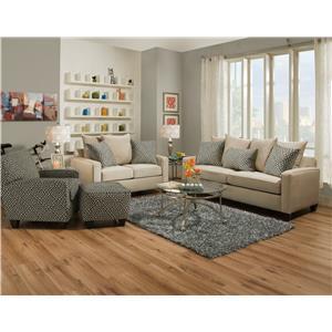 Corinthian 49D0 Stationary Living Room Group