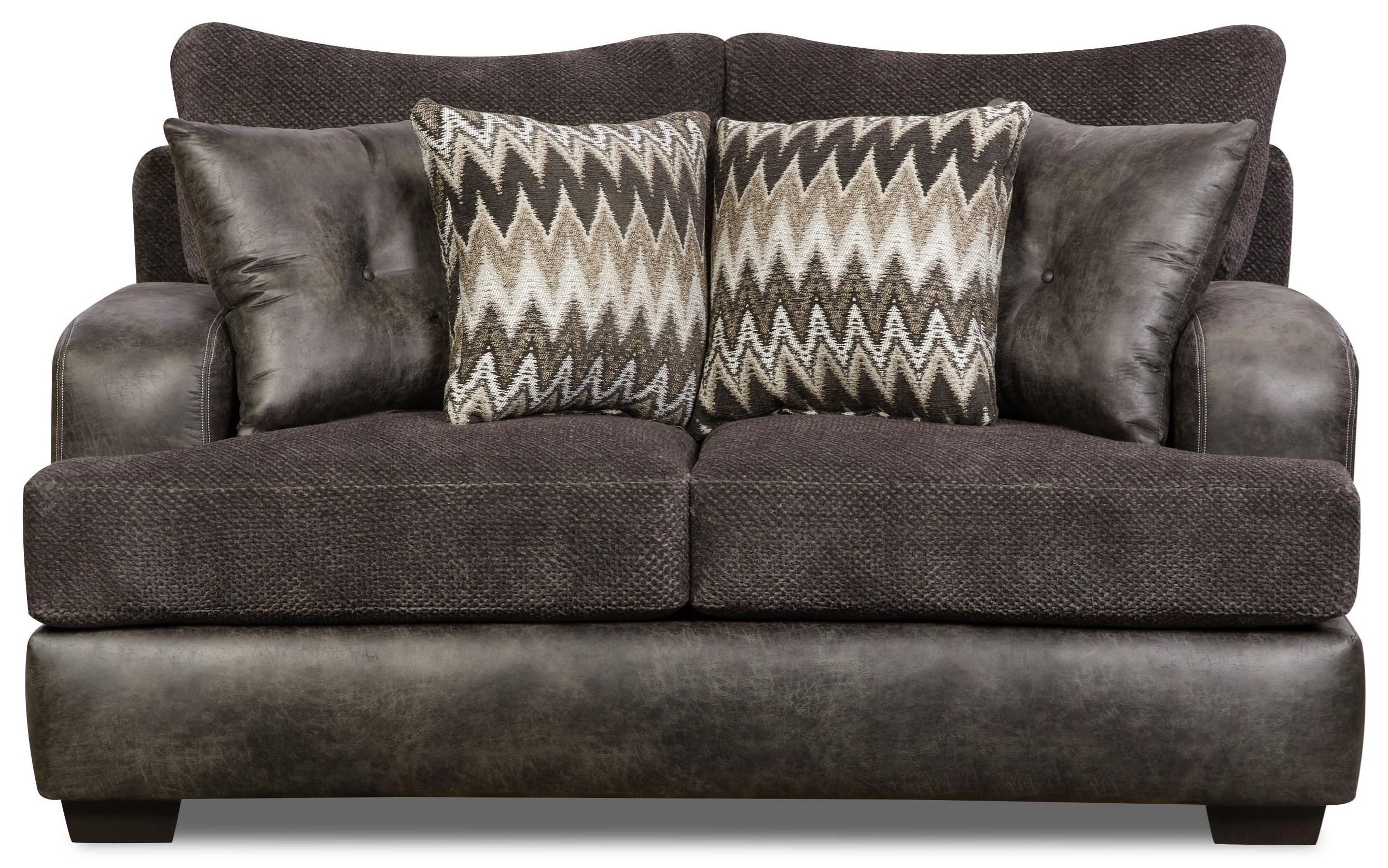Corinthian Monroe Smoke Loveseat - Item Number: 5202-MONROE-SMOKE