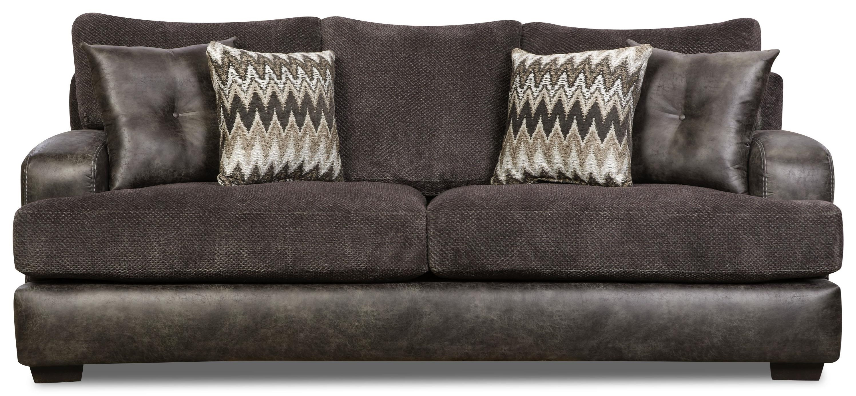 Corinthian Monroe Smoke Sofa - Item Number: 5203-MONROE-SMOKE