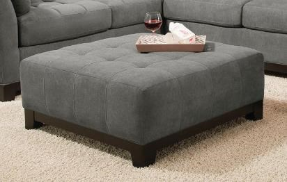 Corinthian Loxley Charcoal Cocktail Ottoman - Item Number: CORI-52B6