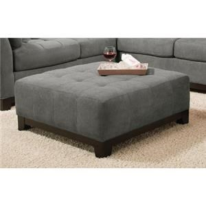 Corinthian Loxley Charcoal Cocktail Ottoman