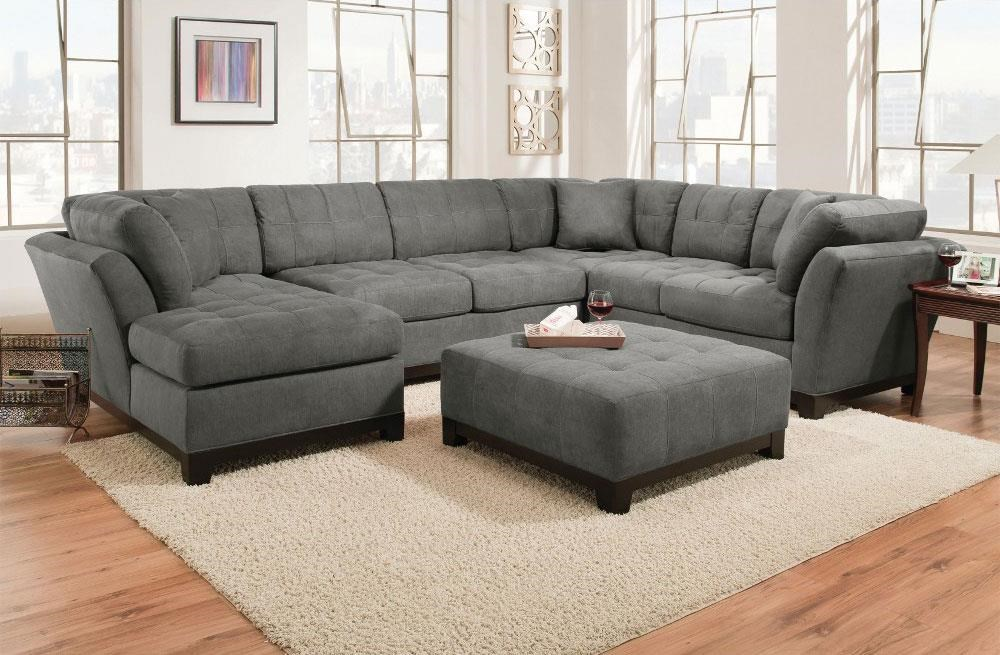 Charcoal Left Side Facing Chaise Sectional