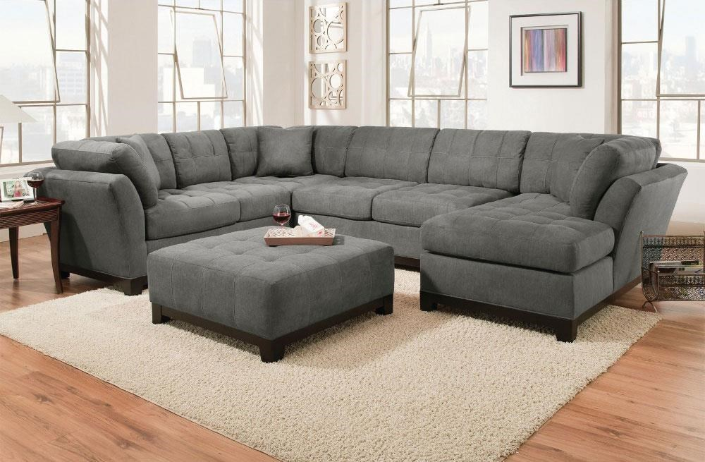 Charcoal Right Side Facing Chaise Sectional