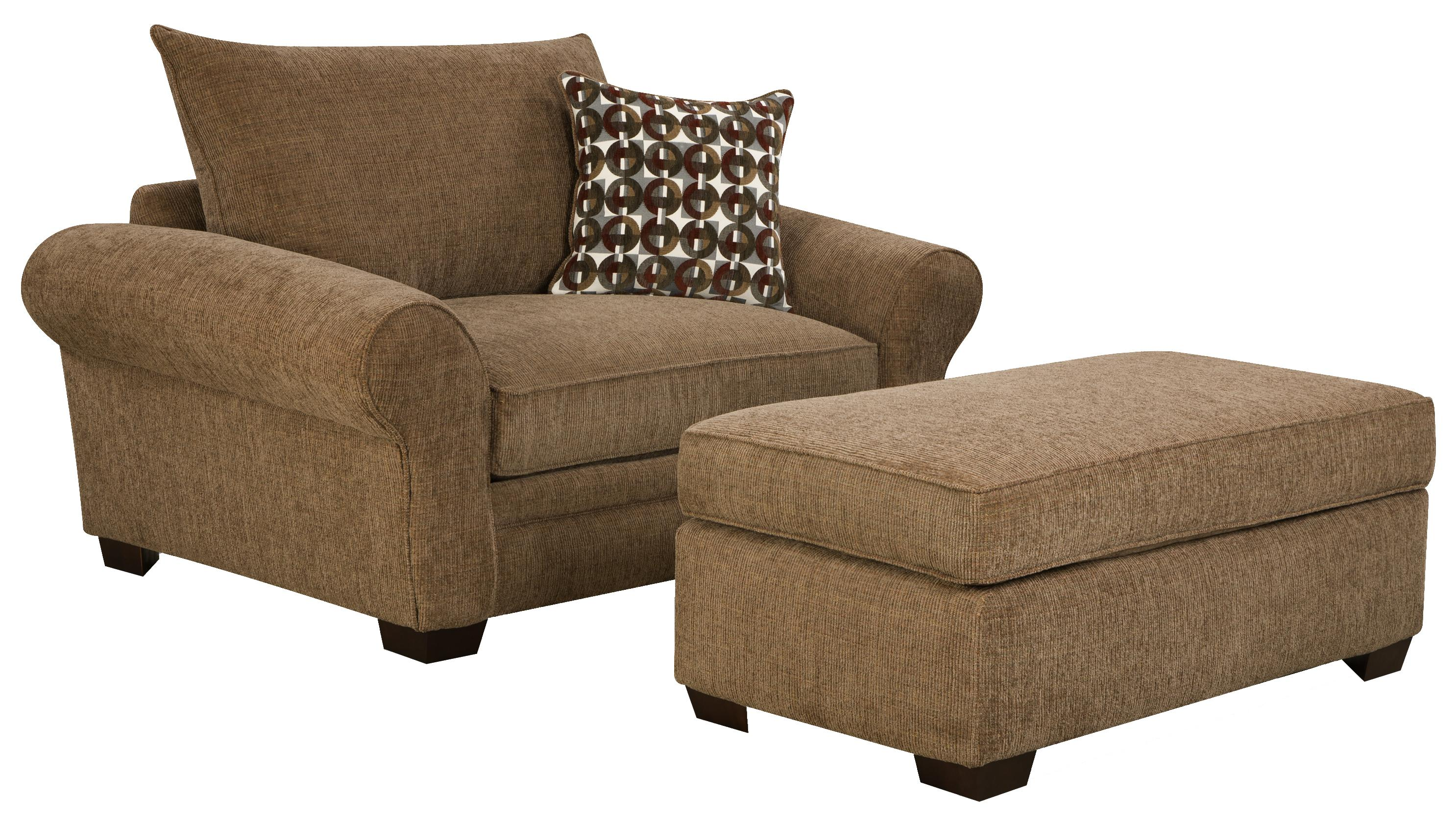 5460 extra large chair and a half ottoman set for casual