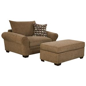 Corinthian 5460 Chair and a Half and Ottoman