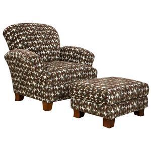 Corinthian 5460 Chair and Ottoman
