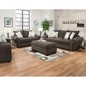 Corinthian 5480 Living Room Group - Item Number: 5480-Living-Room-Group-OTH-BLACK
