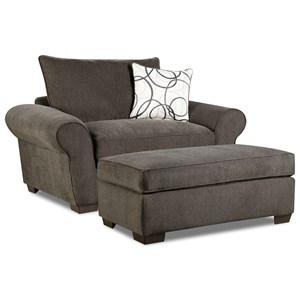 Corinthian 5480 Chair and Ottoman