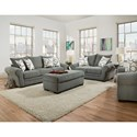 Corinthian 5490 Living Room Group - Item Number: 5490-Living-Room-Group-OTH-LODEN