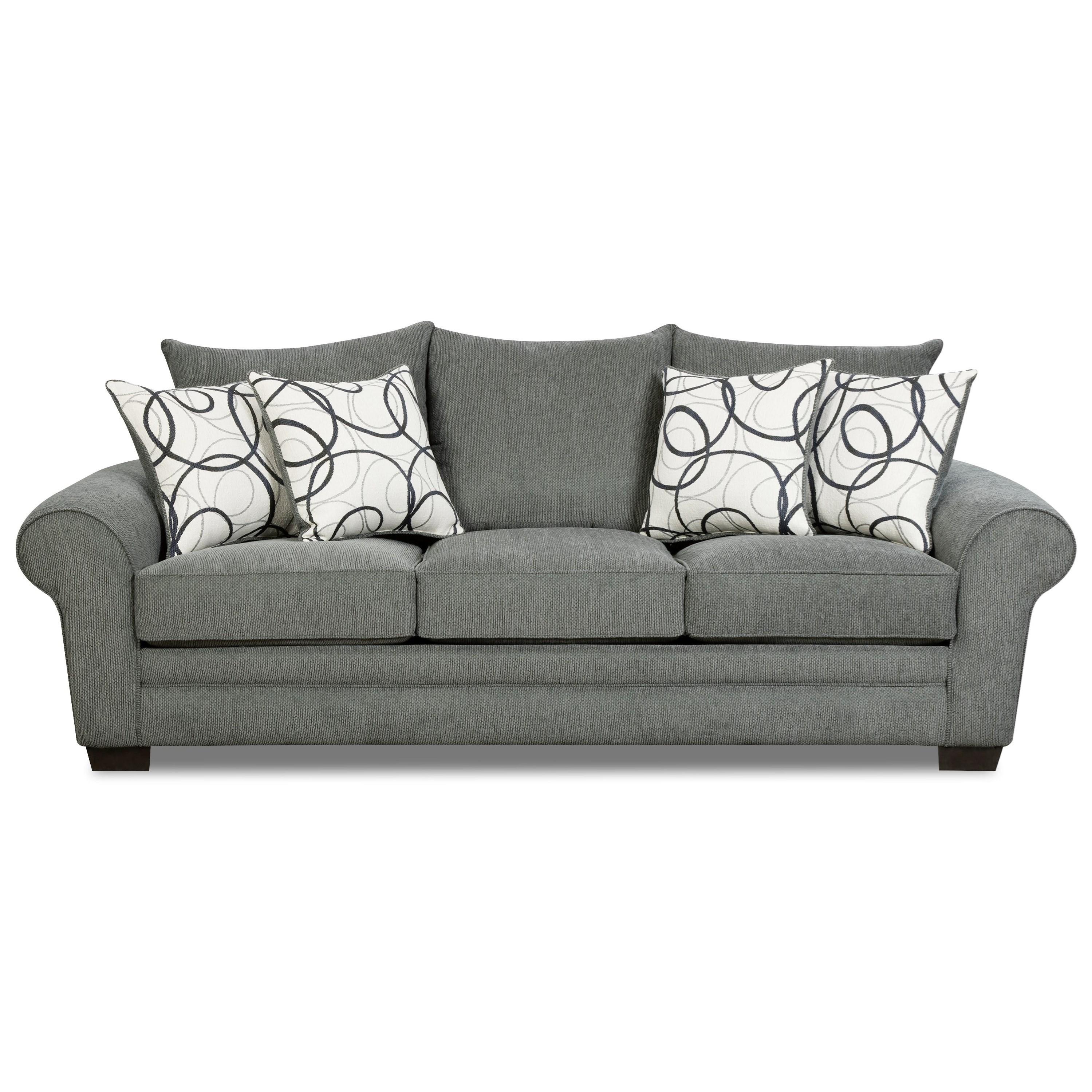 Corinthian Othello Sofa - Item Number: 5493-OTHELLO-LODEN