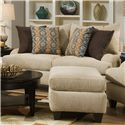 Corinthian 5510  Love Seat with Exposed Tapered Wood Legs