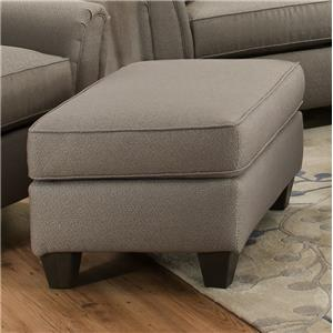 55A0 Casual Contemporary Ottoman by Corinthian