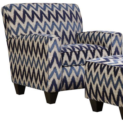 Corinthian 55A0 Contrast Accent Chair - Item Number: AC2255A-Binetti-Indigo