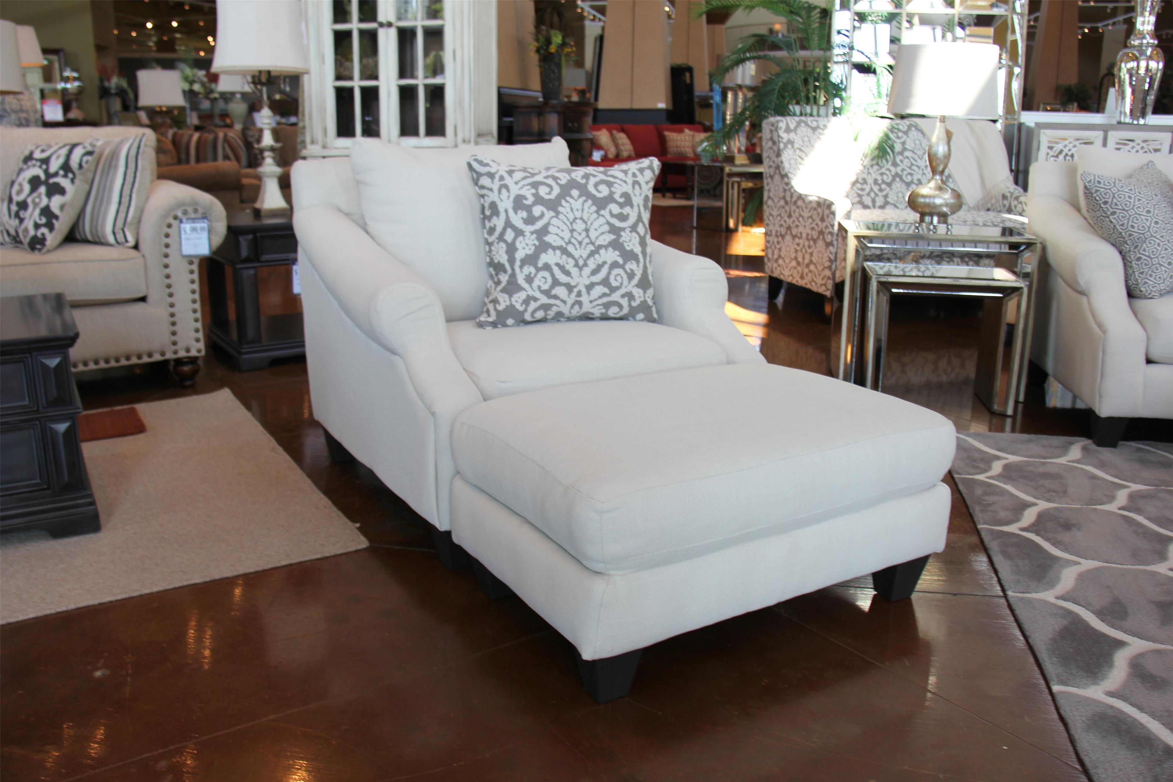 Corinthian 56A0 Lavish Cream Ottoman - Item Number: 56A6